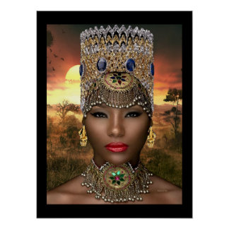 African Royalty Poster