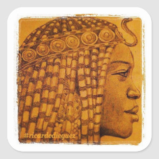 African Royalty Square Sticker