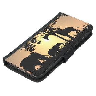 African Safari Galaxy S5 or S4 Wallet Case