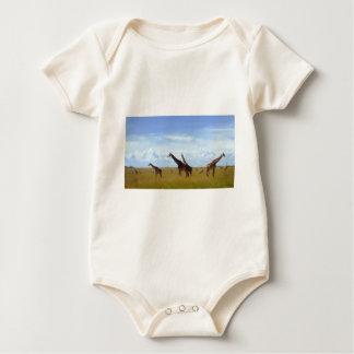 African Safari Giraffes Baby Bodysuit