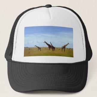 African Safari Giraffes Trucker Hat