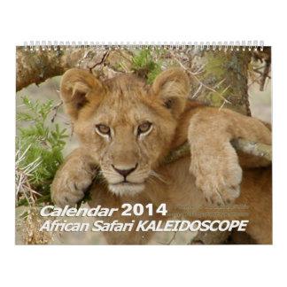 African Safari KALEIDOSCOPE Calendar 2014 2-Pg.