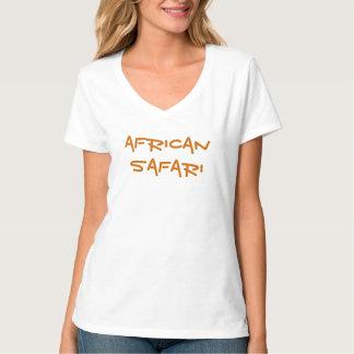 African Safari Ladies'  white Top