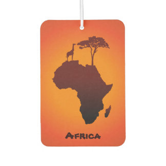 African Safari Map - Air Freshener