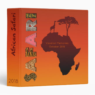 African Safari Map - Memories Binder