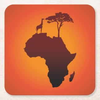 African Safari Map - Paper Coaster