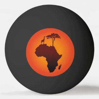 African Safari Map - Ping Pong Ball