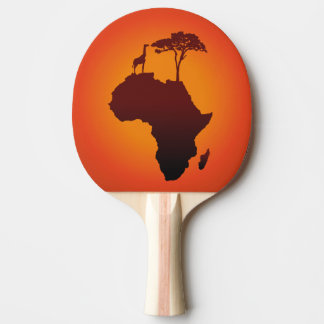 African Safari Map - Ping Pong Paddle