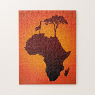 African Safari Map - Puzzle