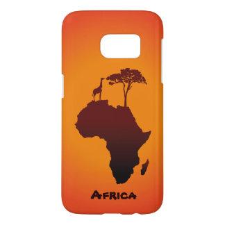 African Safari Map - Samsung Galaxy Case