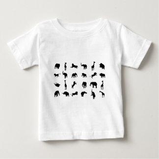 African Safari Silhouette Animal Baby T-Shirt