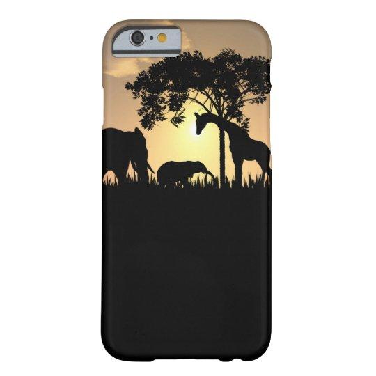 African Safari Silhouette iPhone 6 plus case