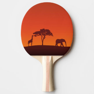 African Safari Silhouette - Ping Pong Paddle