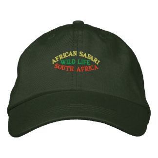 AFRICAN SAFARI, SOUTH AFRICA EMBROIDERED HAT