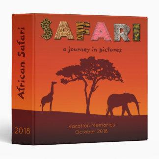 African Safari Travel Journal - Memories Binder