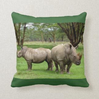 African Safari White Rhinoceros Love Party Destiny Throw Pillow