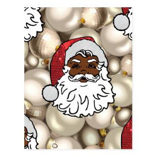 african santa claus postcard