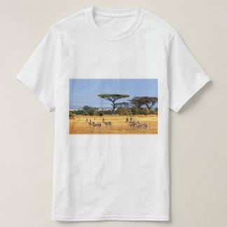 African Savannah antelopes painting on T-Shirt