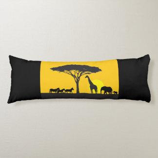 African Savannah themed body pillow