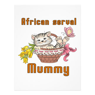 African serval Cat Mom Customized Letterhead