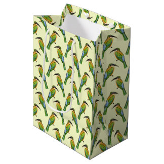 African Somali Bee Eater Vintage Bird Pattern Medium Gift Bag