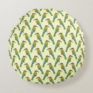 African Somali Bee-eater Vintage Bird Pattern Round Pillow