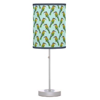 African Somali Bee Eater Vintage Bird Pattern Table Lamp