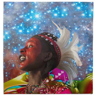 African Star Dreamer Cloth Napkins