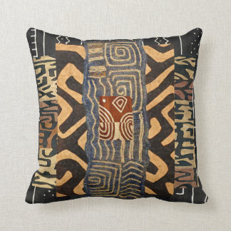 African Style Motif Graphic Throw Pillow