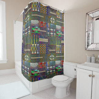 African style patchwork design