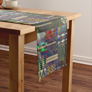 African style patchwork design short table runner