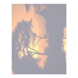 African sunset, Arusha National Park, Tanzania Customized Letterhead