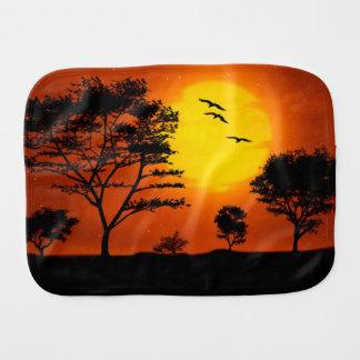 African Sunset Baby Burp Cloths
