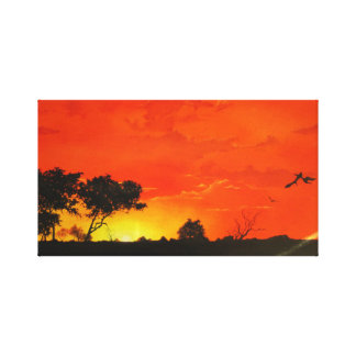 African Sunset Canvas