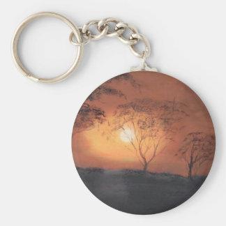 African sunset keychain