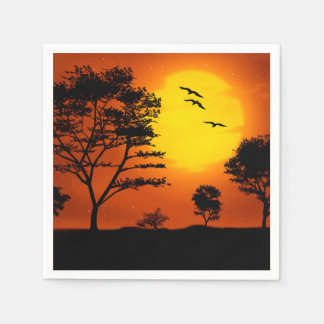 African Sunset Paper Napkins