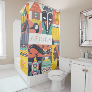 African Symbolic Art Collage