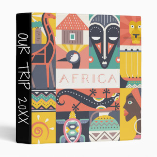 African Symbolic Art Collage Binder