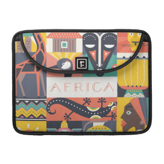 African Symbolic Art Collage MacBook Pro Sleeve