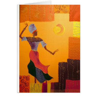 African Tapestry Card