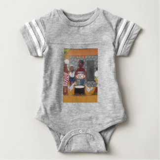 African traditional homestead cute nice lovely col baby bodysuit