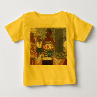 African traditional homestead cute nice lovely col baby T-Shirt