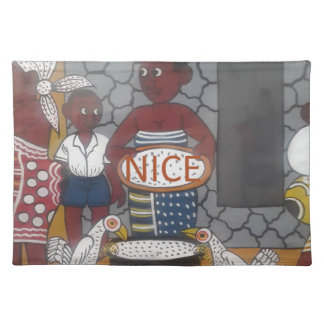 African traditional homestead cute nice lovely col placemat