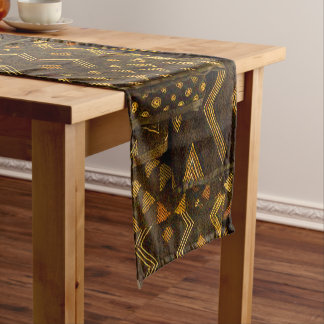 African Tribal Abstract Pattern Short Table Runner