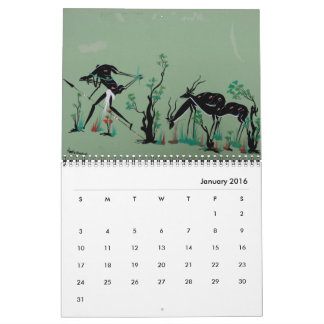 African Tribal Art Calendar