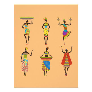 African Tribal art ladies colourful ethnic fashion Personalized Letterhead