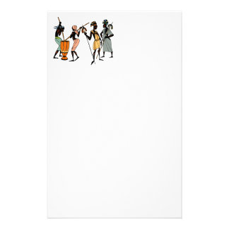 African tribal art paper sheets stationery design