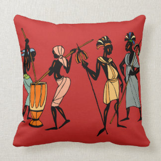 African tribal art throw pillow