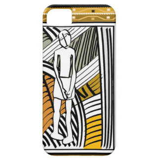 African tribal farmer, gold case for the iPhone 5
