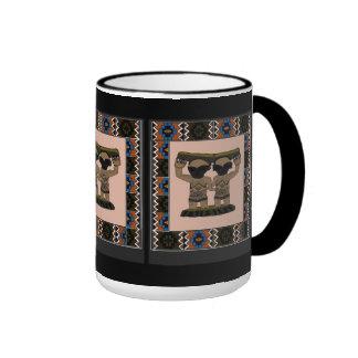 AFrican tribal figurine Ringer Coffee Mug